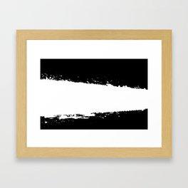 White Splash Framed Art Print