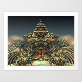 On Point - Fractal - Mandelbulb - Manafold Art Art Print