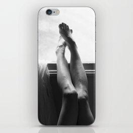 digital photo photography legs window figure woman black and white iPhone Skin