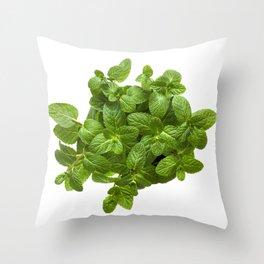 Fragrant mint Throw Pillow