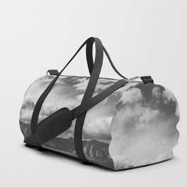 Red Rock Canyon, Las Vegas, Nevada. Mountain Black and White Photograph Duffle Bag