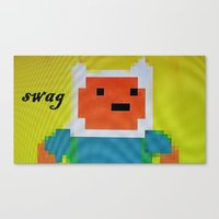 swag Canvas Prints featuring swag by staythirstyXXX