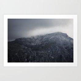 Viewpoint on ( tramuntana ) mountain on the Spanish island,Mallorca  Art Print