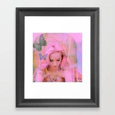 Butterflies in my heart for you Framed Art Print