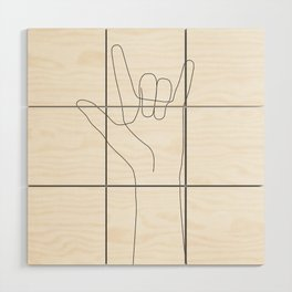 Love Hand Gesture Wood Wall Art
