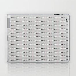 Geometric Doodle Stripes Grey Pink Laptop & iPad Skin