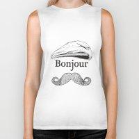 bonjour Biker Tanks featuring Bonjour by Jacob Waites