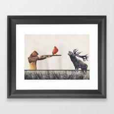 Le tir Framed Art Print