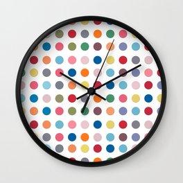 Polka Dots - Color Love Wall Clock