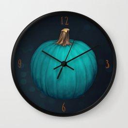 Teal Pumpkin Wall Clock