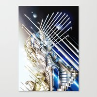 sci fi Canvas Prints featuring Sci-Fi Series 1 by eos vector