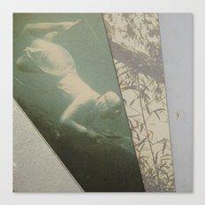 La plongeuse Canvas Print