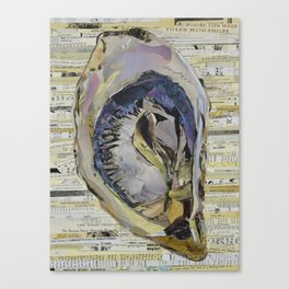 Oyster Collage by C.E. White Canvas Print