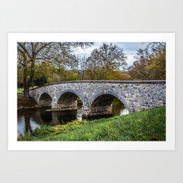 Lower Bridge Burnside's Bridge Antietam National Battlefield Civil War Maryland Art Print