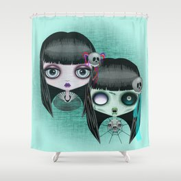 Zombie Doll The Dark Side Shower Curtain