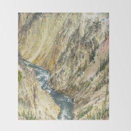Mountain Meets River Throw Blanket