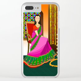Indian Girl Clear iPhone Case