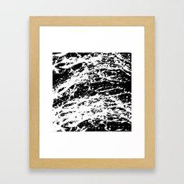 Black and White Paint Splatter Framed Art Print