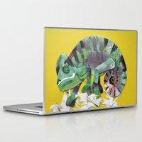 chameleon Laptop & iPad Skins featuring chameleon by Ruud van Koningsbrugge