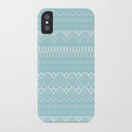 Weave (blue) iPhone Case