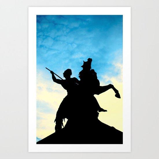 Sunset Warrior  Art Print