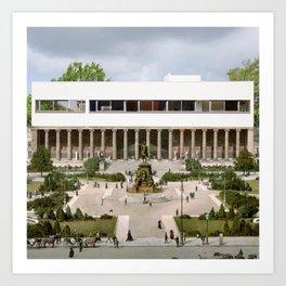 le corbusier 4 point of architecture Art Print