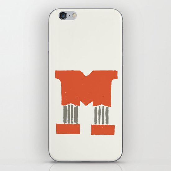 M Lettering iPhone Skin