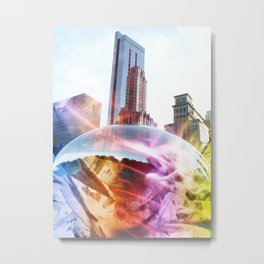 """Skyline: Remixed"" Metal Print"
