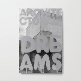 Architectural Dreams Silver Metal Print