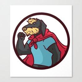 superhero dog Canvas Print