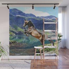 Horse and Lake Wall Mural
