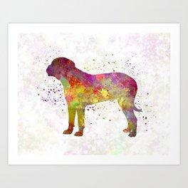 Bullmastiff in watercolor Art Print