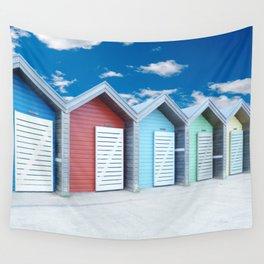 'Beach huts' Northumberland Wall Tapestry