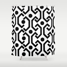 Ethnic Pattern (White) Shower Curtain
