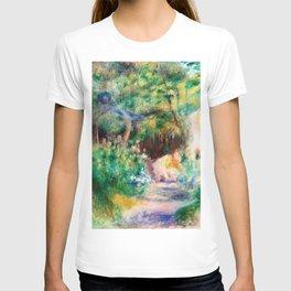 12,000pixel-500dpi - Pierre-Auguste Renoir - Landscape With Woman Gardening - Digital Remastered T-shirt