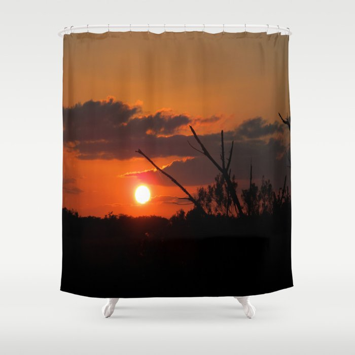 The Beautiful Sunset Shower Curtain