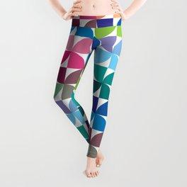 Geometric Pattern #1 (Colorful semicircle) Leggings