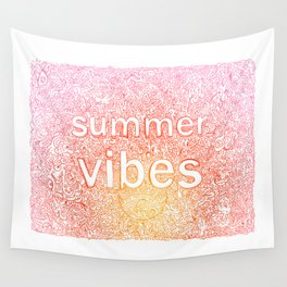 sumer vibes colorful doodle Wall Tapestry