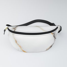 White gray and rose-gold faux marble Fanny Pack