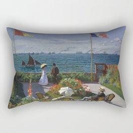 Claude Monet - Garden at Sainte-Adresse (1867) Rectangular Pillow