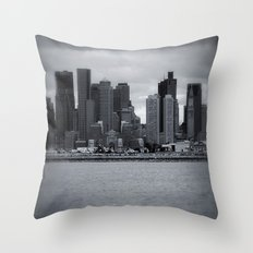 City and Airfield Throw Pillow