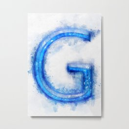 G Letter Metal Print