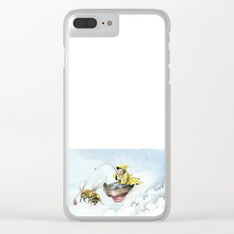 Bee Boating Clear iPhone Case