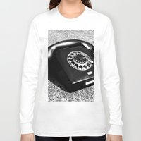 telephone Long Sleeve T-shirts featuring telephone by Falko Follert Art-FF77