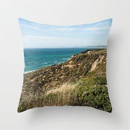 Sesimbra beach, Praia das bicas, Portugal Throw Pillow