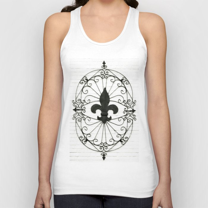 Wrought Iron Fleur de Lis Unisex Tank Top