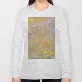 Sea-Roses (Yellow Nirwana) by Claude Monet Long Sleeve T-shirt