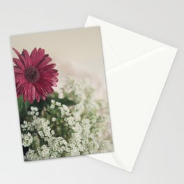 Soft Red Daisy Stationery Cards
