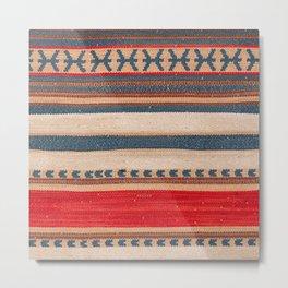 N66 - Classic Oriental Moroccan Style Fabric. Metal Print