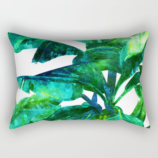 Banana Leaves #society6 #decor #buyart Rectangular Pillow